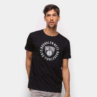 Camiseta NBA Brooklin Nets New Era College Team Circle Masculina