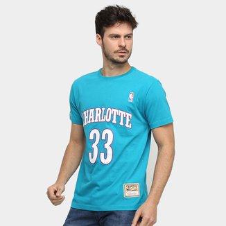 Camiseta NBA Charlotte Hornets nº 33 Alonzo Mourning Mitchell & Ness Masculina
