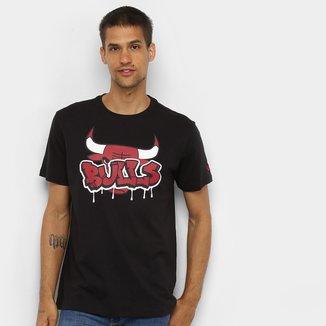 Camiseta NBA Chicago Bulls New Era Arte Grafite Masculina