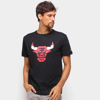 Camiseta NBA Chicago Bulls New Era Rave Space Pixels Masculina