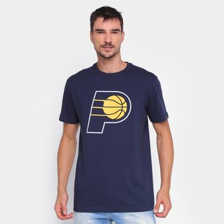 Camiseta NBA Indiana Pacers New Era Logo Masculina