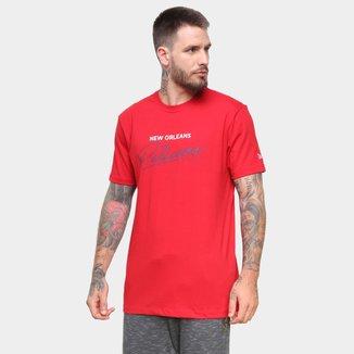 Camiseta NBA New Orleans Pelicans New Era Core Handsign Masculina