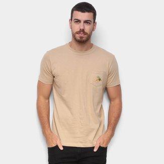 Camiseta New Era Botany Isca C/ Bolso Masculina