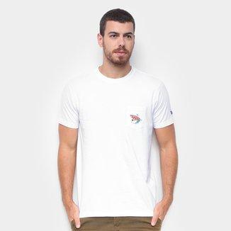 Camiseta New Era Botany Isca Whi Masculina