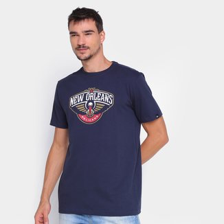Camiseta New Era NBA New Orleans Pelicans Logo Masculina