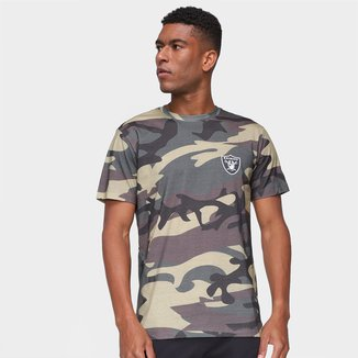 Camiseta NFL Las Vegas Raiders New Era Military Total Camo Masculina