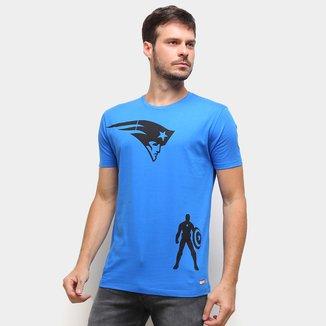 Camiseta NFL New England Patriots  Capitão América Marvel Masculina