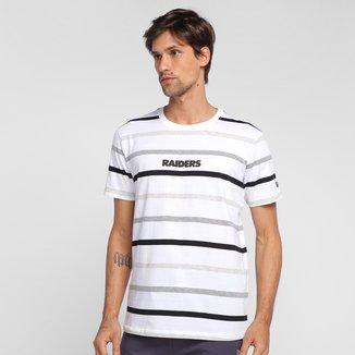 Camiseta NFL Oakland Raiders New Era Color Stripe Full Masculina