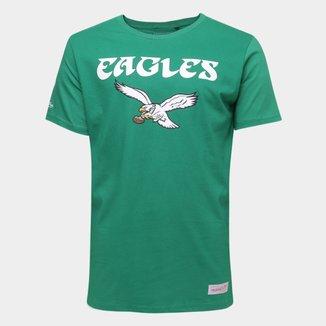 Camiseta NFL Philadelphia Eagles Mitchell & Ness Big Logo Masculina