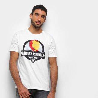 Camiseta NFL  Raiders Assemble Marvel Masculina