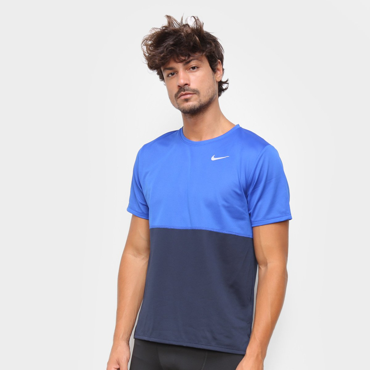 Por el contrario desmayarse Posible  Camiseta Nike Dri-Fit Breathe Run Masculina - Azul Royal e Preto | Allianz  Parque Shop