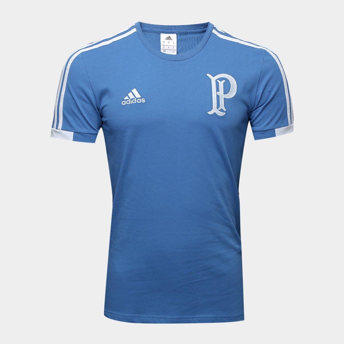 84dd1fbcd2 Camiseta Palmeiras Viagem Adidas Masculina - Azul - Compre Agora ...
