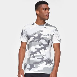 Camiseta Philadelphia Eagles New Era Military Total Camo Masculina