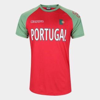Camiseta Portugal Logo Kappa Masculina