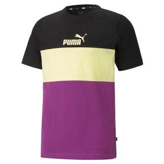 Camiseta Puma Ess+ Colorblock Masculina
