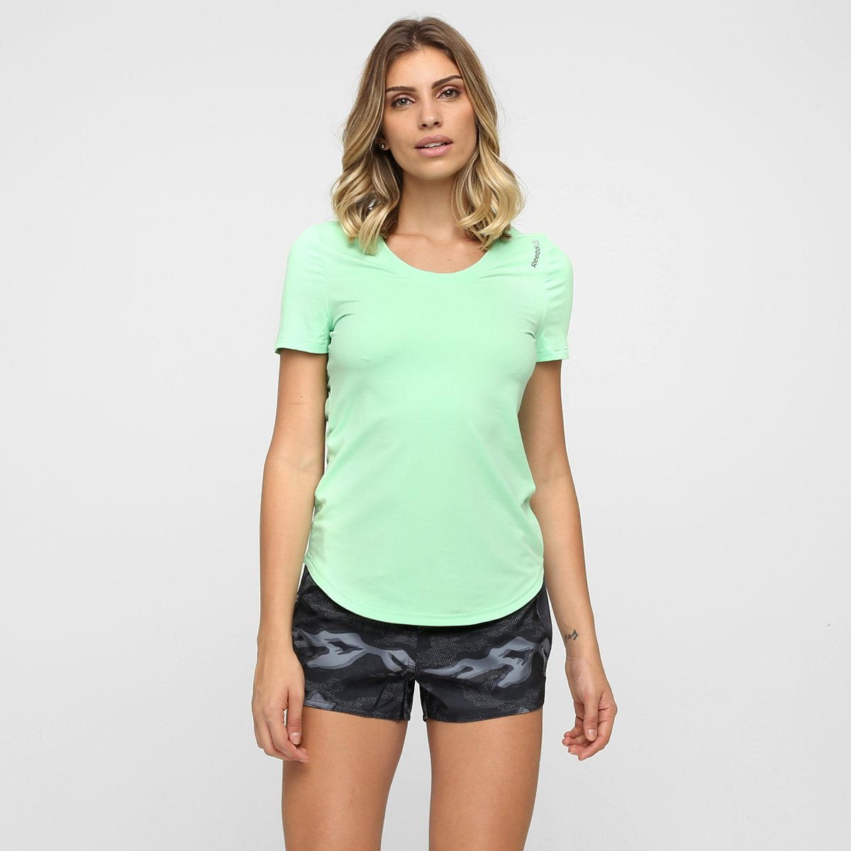eb93e87ec06 Camiseta Reebok Wor Pd Feminina - Compre Agora