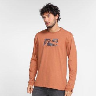 Camiseta Rusty Dye Manga Longa Masculina
