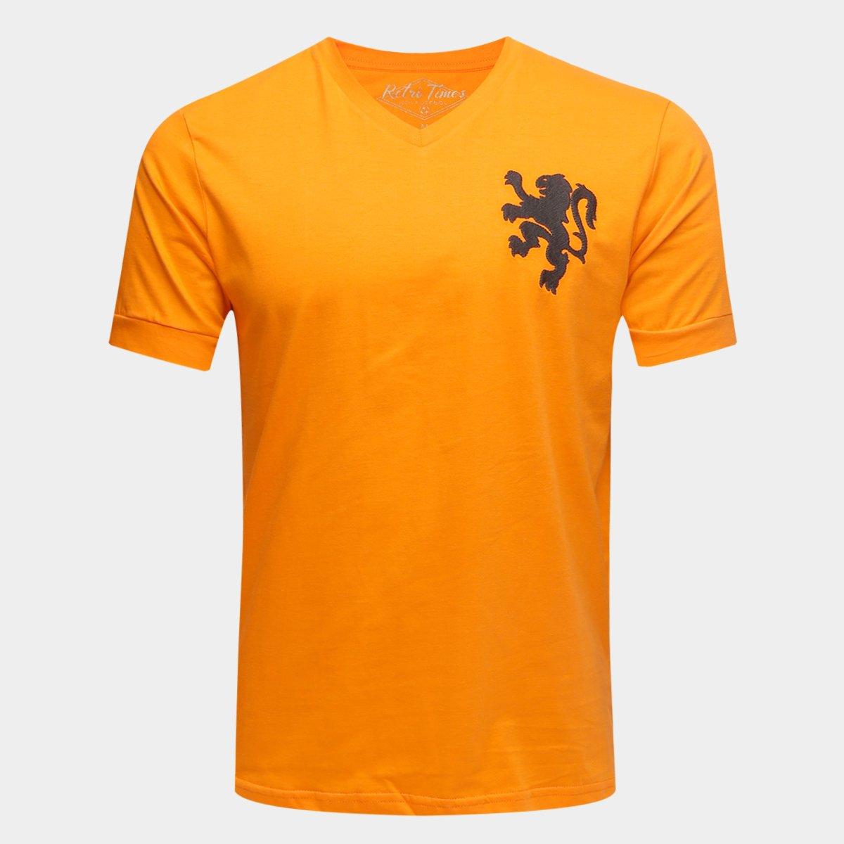 Camiseta Seleção Holanda Retro Times 1974 Masculina - Compre Agora ... 48199ad06a6f4