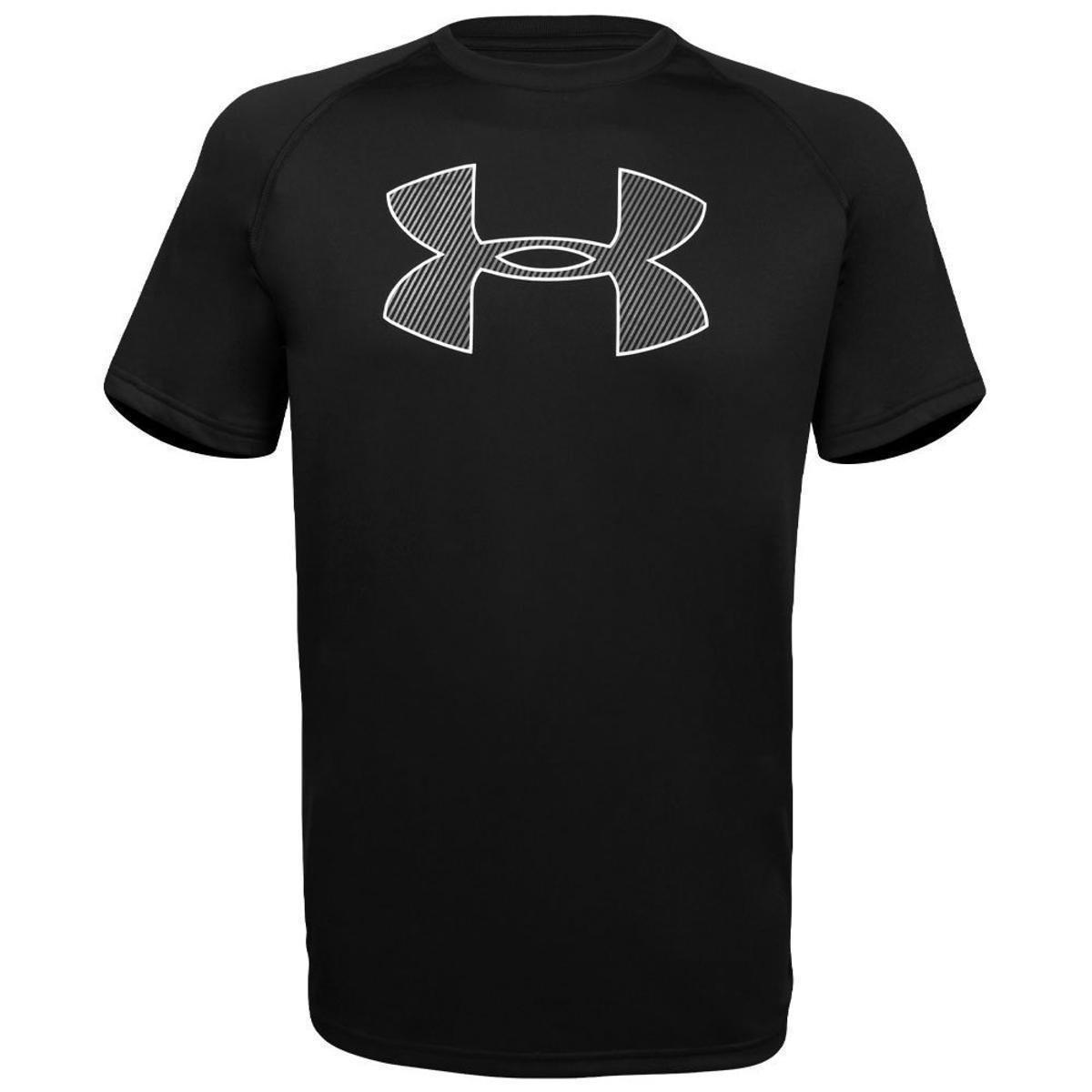 fe5df102d80 Camiseta Under Armour Big Logo Masculina - Preto e Branco - Compre Agora
