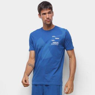 Camiseta Under Armour Big Logo Pontilhado Masculina
