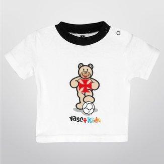 Camiseta Vasco Bebê Urso Infantil