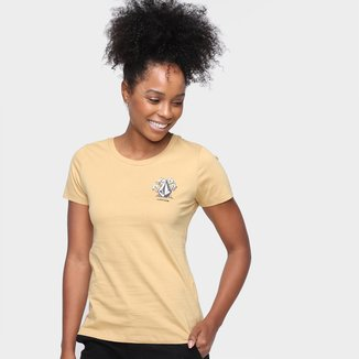Camiseta Volcom Flowers Feminina