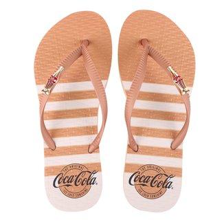 Chinelo Coca Cola Metallic Straps Feminino