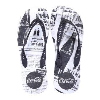 Chinelo Coca Cola Newspaper Masculino