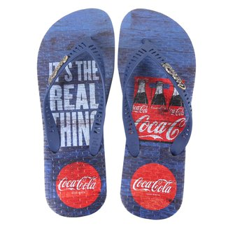Chinelo Coca Cola Real Pack Masculino