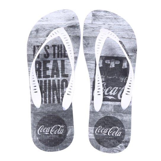 Chinelo Coca Cola Real Pack Masculino - Branco