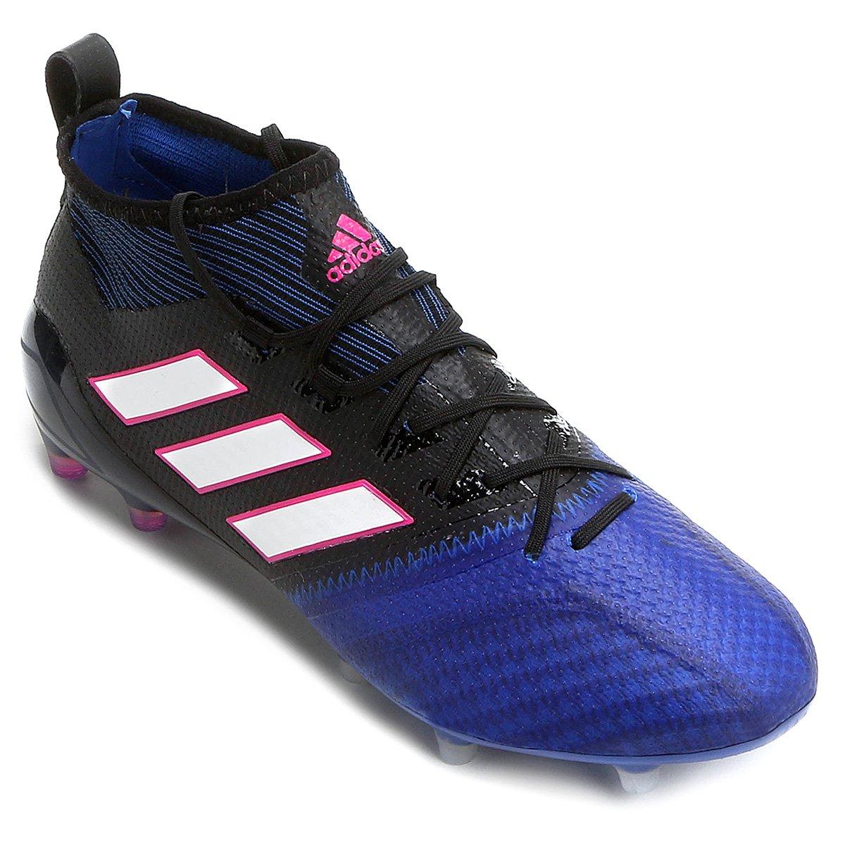 f3c75db6553 Chuteira Campo Adidas Ace 17.1 Primeknit FG - Preto e Azul | Allianz ...