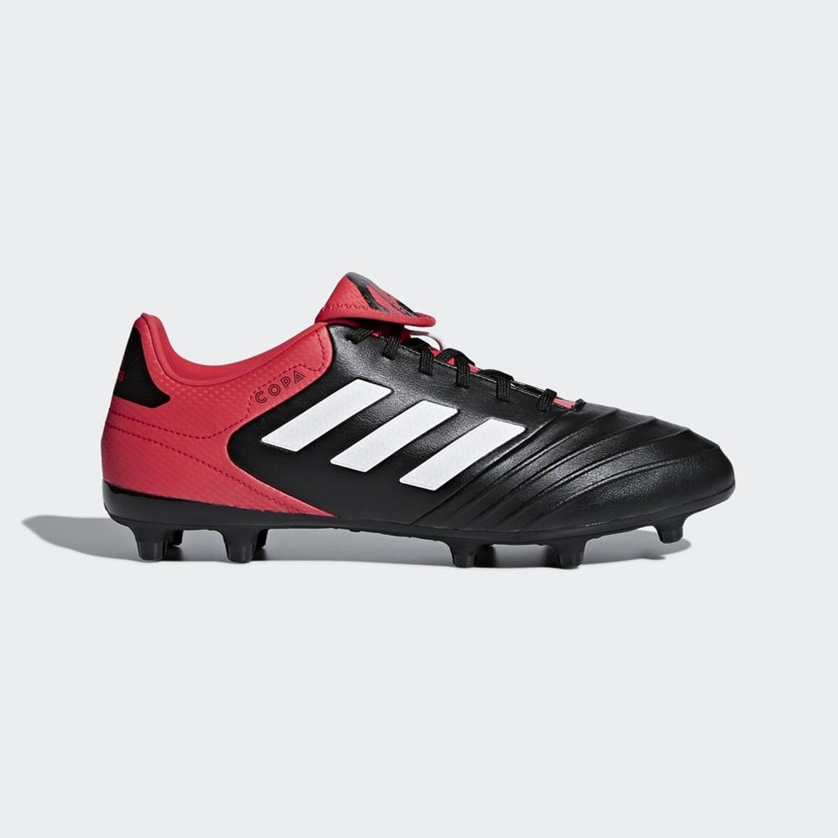 e1cc863250 Chuteira Campo Adidas Copa 18.3 FXG - Preto e Vermelho