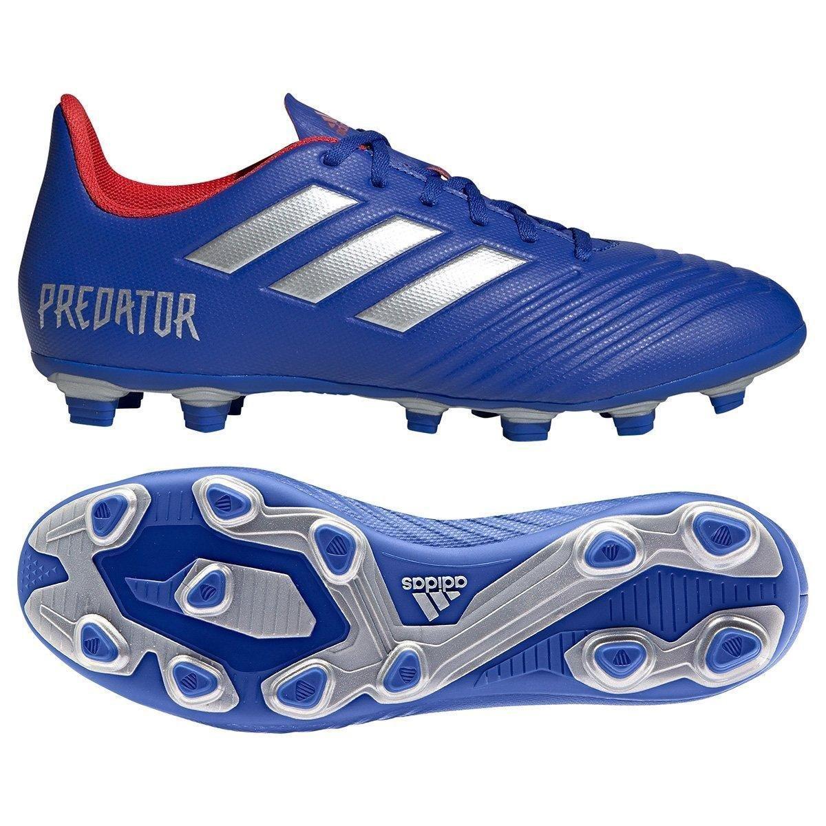 81430c3df2c Chuteira Campo Adidas Predator 19 4 FG - Azul e Prata - Compre Agora ...