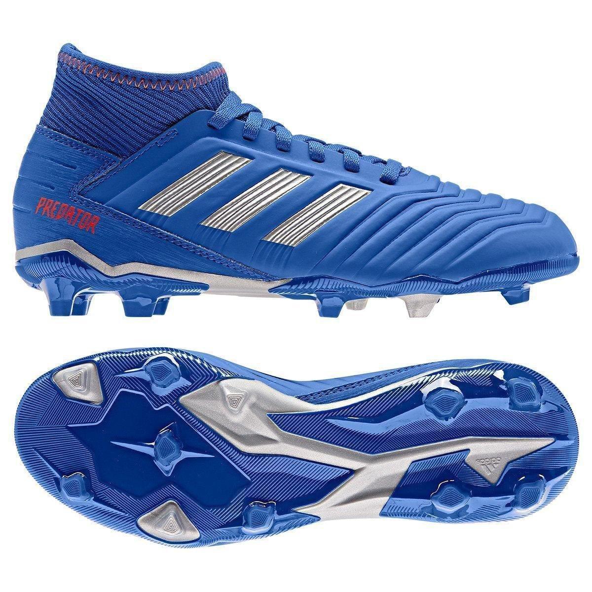 382e840a8e Chuteira Campo Infantil Adidas Predator 19 3 FG - Azul e Prata | Allianz  Parque Shop