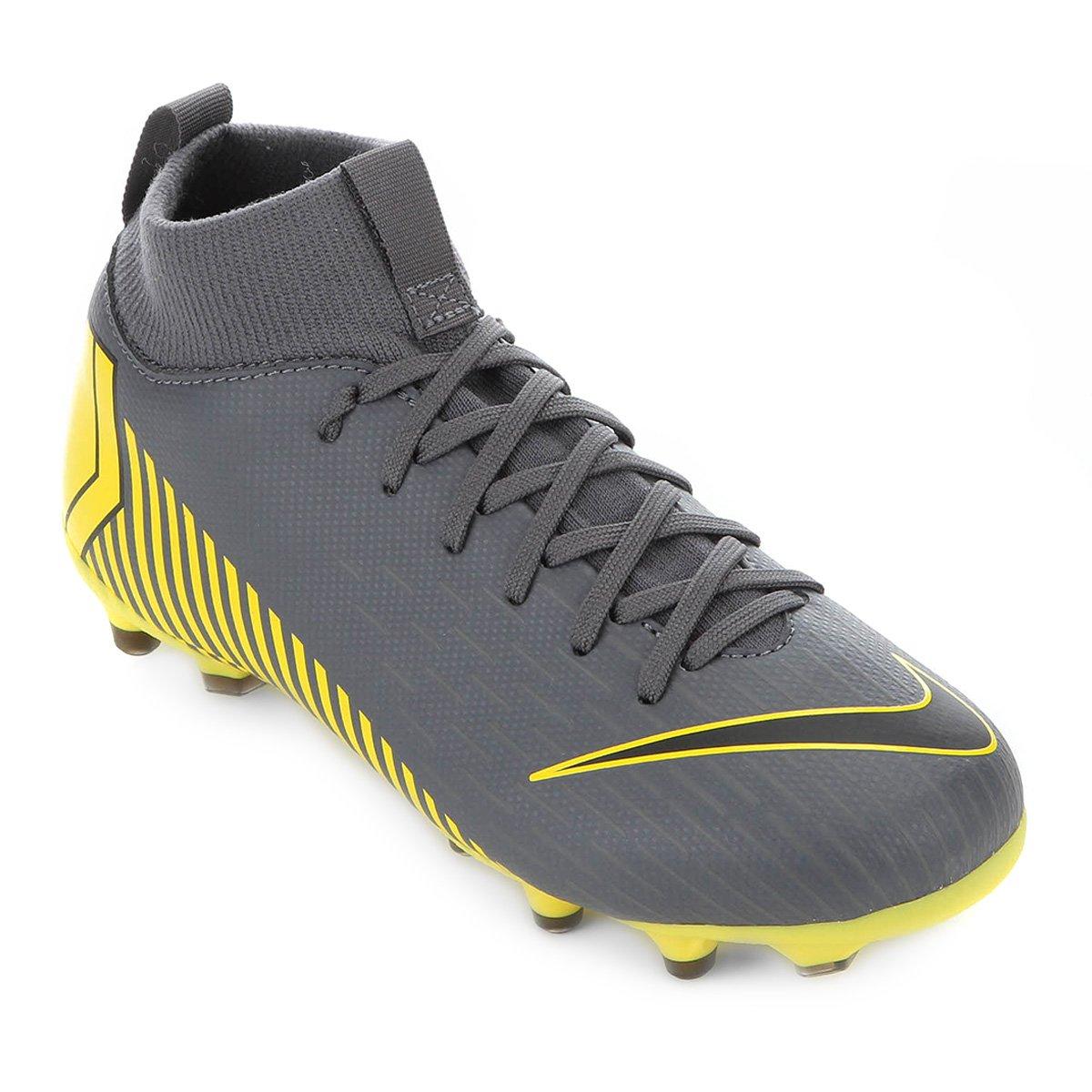 fee647a5418e3 Chuteira Campo Infantil Nike Mercurial Superfly 6 Academy GS FG - Cinza |  Allianz Parque Shop