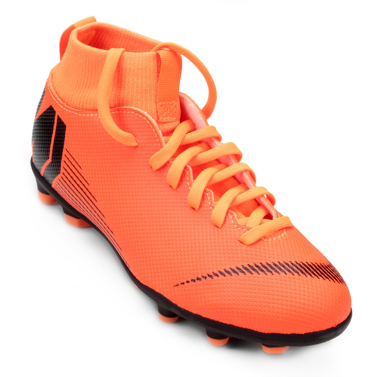 b97bb7409a Chuteira Campo Infantil Nike Mercurial Superfly 6 Club - Laranja e ...