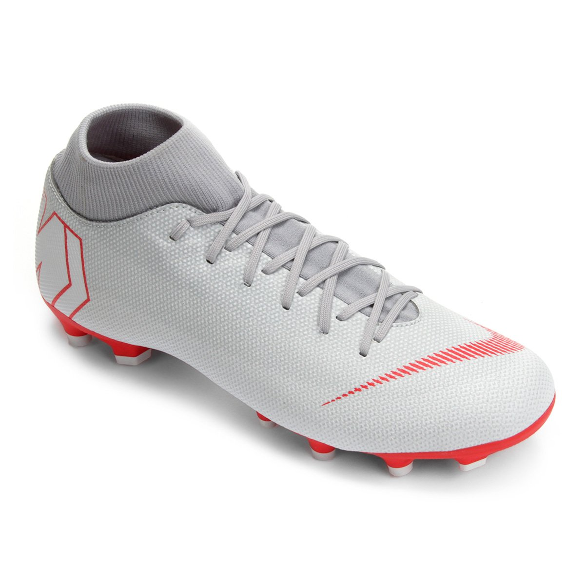 4de46b3b27a8d Chuteira Campo Nike Mercurial Superfly 6 Academy - Cinza - Compre Agora