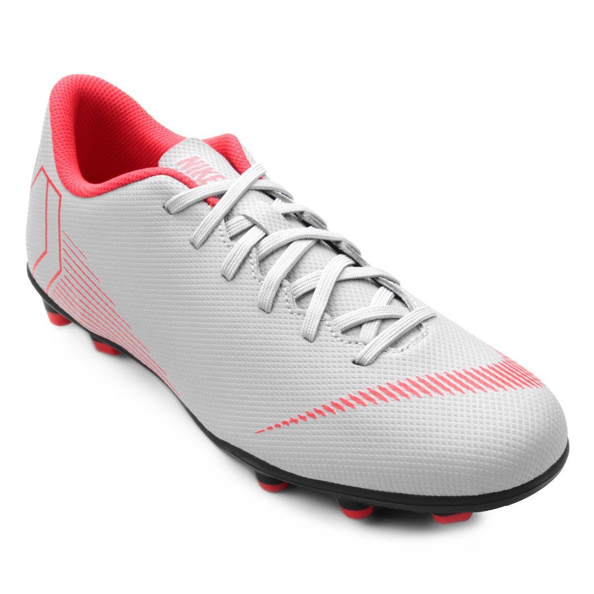 4a1e73c046f Chuteira Campo Nike Mercurial Vapor 12 Club - Cinza. R  249