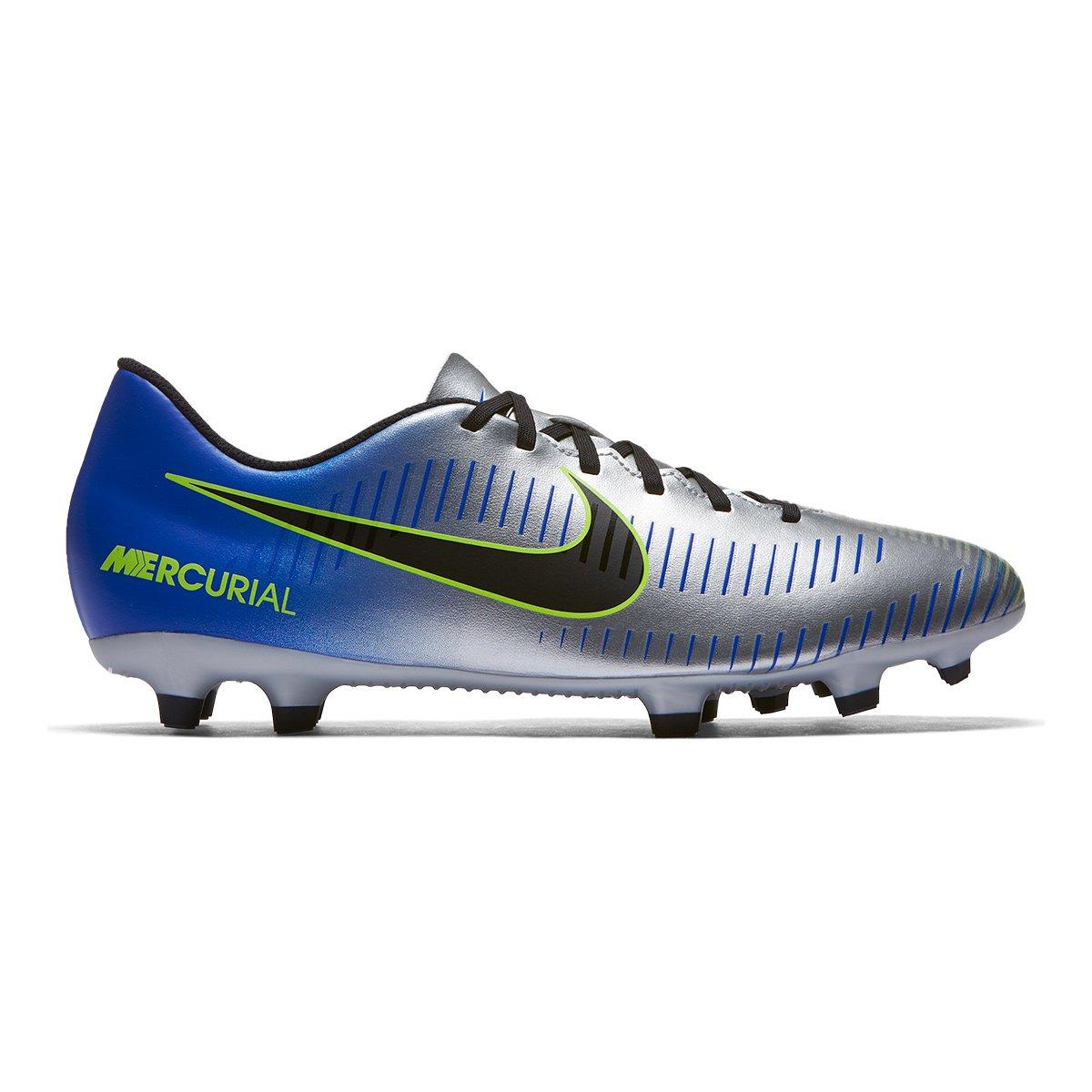 1560d85426 Chuteira Campo Nike Mercurial Vortex 3 Neymar Jr FG - Azul e Preto |  Allianz Parque Shop