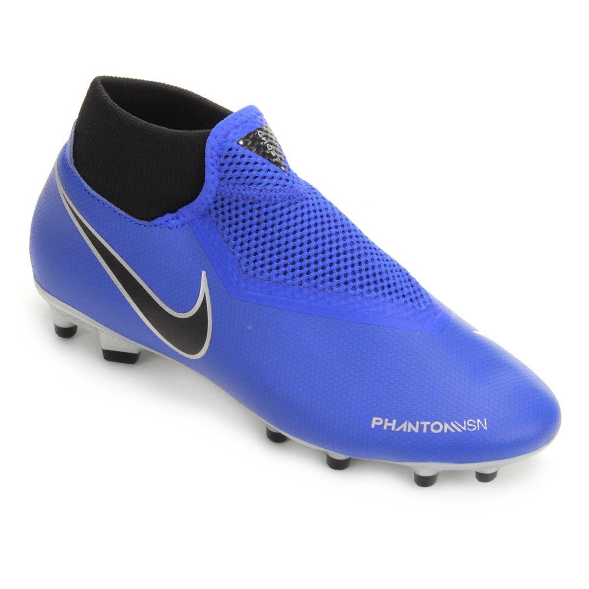 1bd27619cb Chuteira Campo Nike Phantom Vision Academy DF FG - Azul e Preto ...