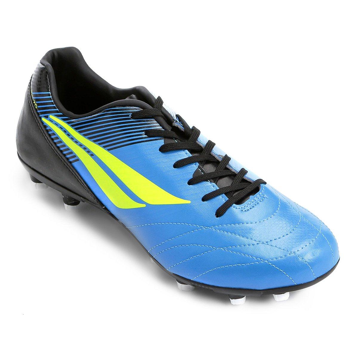 c970889edc00f Chuteira Campo Penalty Brasil 70 R2 VIII - Azul e Preto - Compre Agora