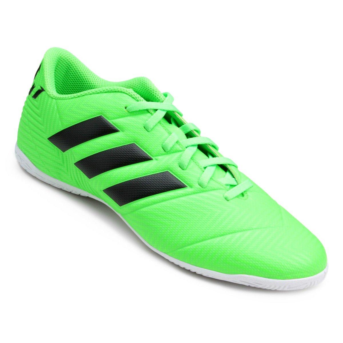 acab5253cec60 Chuteira Futsal Adidas Nemeziz Messi Tan 18 4 IN - Verde e Preto | Allianz  Parque Shop