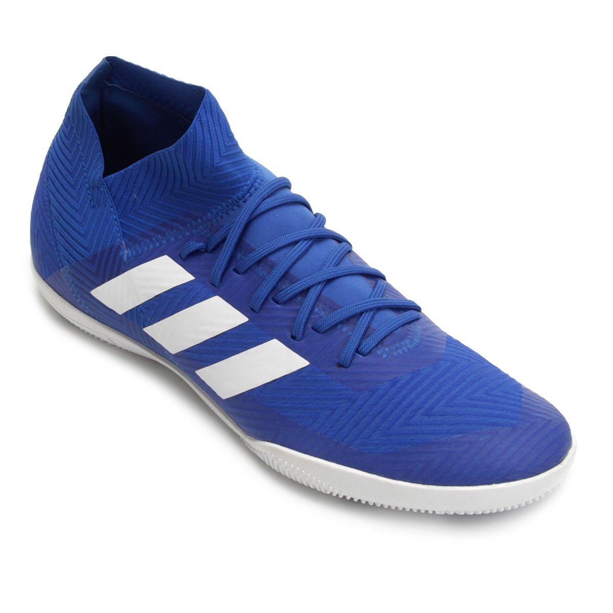 386131b47361 Chuteira Futsal Adidas Nemeziz Tango 18 3 IN - Azul e Branco - Compre Agora