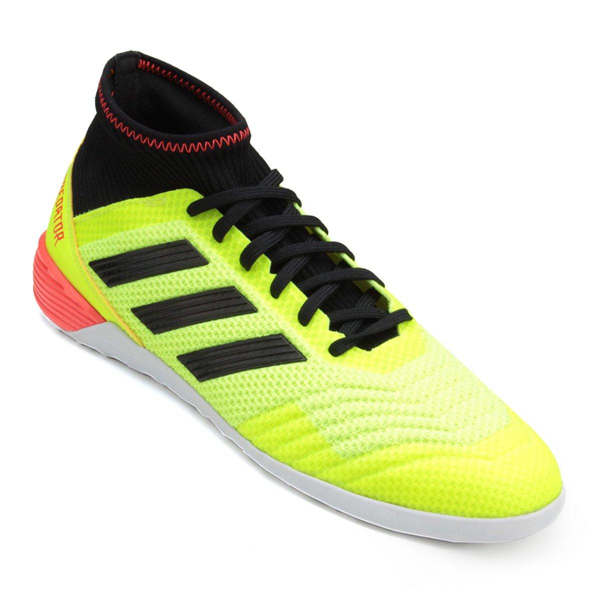 c7b062da10bb6 Chuteira Futsal Adidas Predator Tan 18 3 IN - Amarelo e Preto - Compre  Agora