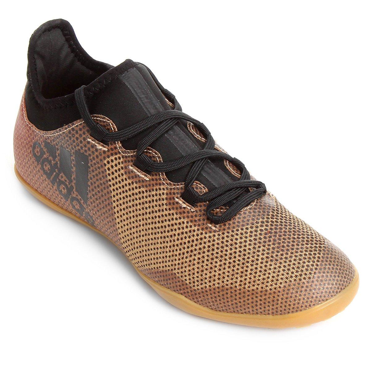 cd7b9ad952be0 Chuteira Futsal Adidas X 17 3 IN - Dourado - Compre Agora
