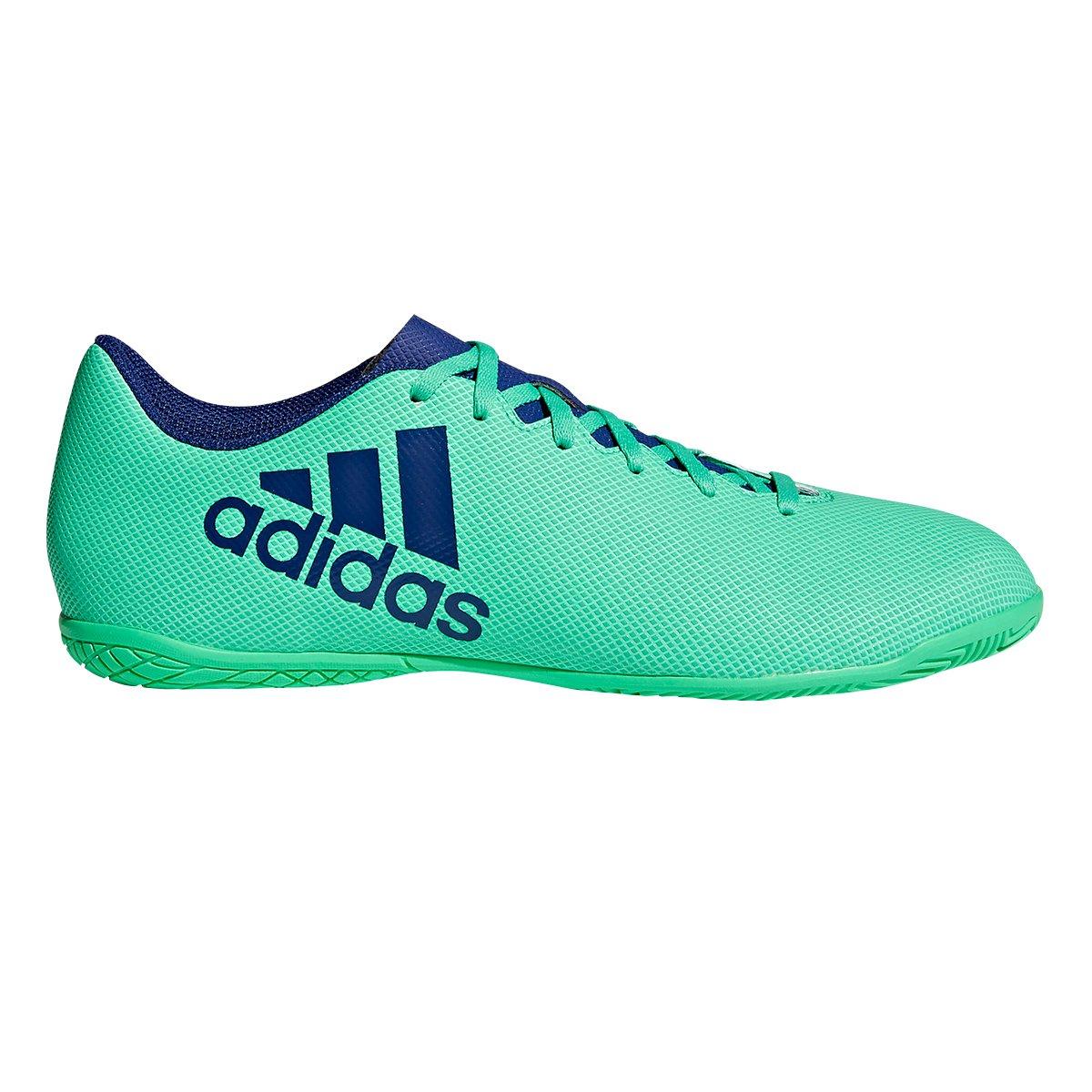 Chuteira Futsal Adidas X 17.4 IN - Verde e Azul - Compre Agora ... 032d02caf0bf7