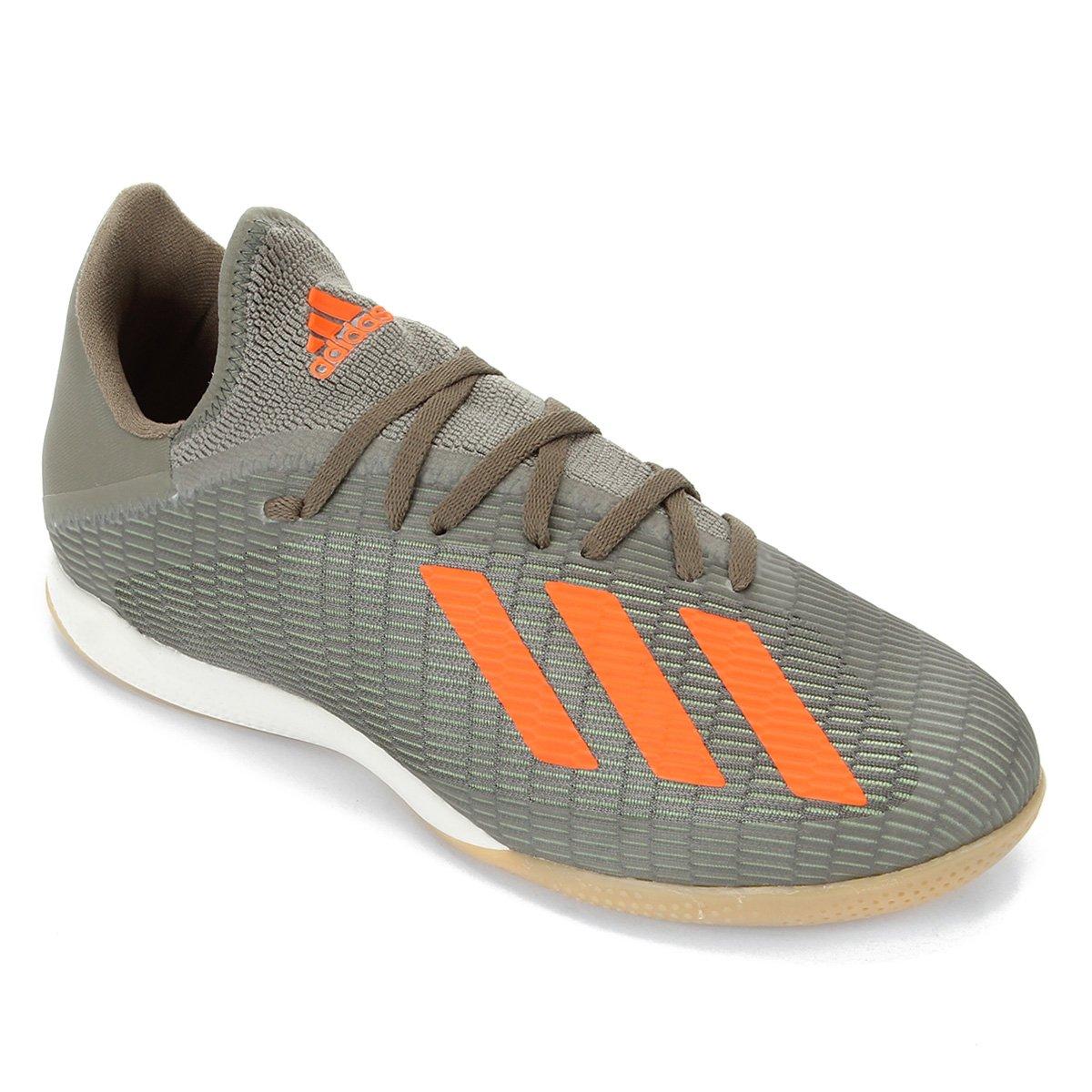 sistemático Gobernable eslogan  Chuteira Futsal Adidas X 19 3 IN - Verde e laranja   Allianz Parque Shop