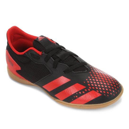 Chuteira Futsal Infantil Adidas Predator 20 4 IN Jr - Preto+Vermelho