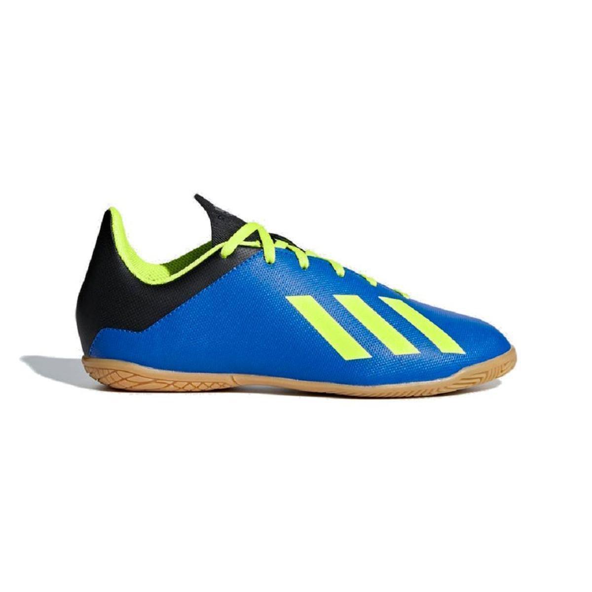 b6d181e2c01 Chuteira Futsal Infantil Adidas X Tango 18 4 In - Azul e amarelo - Compre  Agora