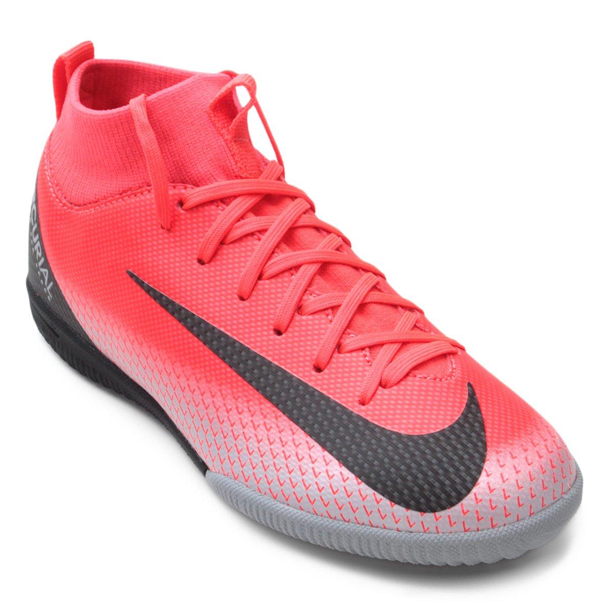 c193d4323b2 Chuteira Futsal Infantil Nike Mercurial Superfly 6 Academy GS CR7 IC -  Preto e Cinza - Compre Agora